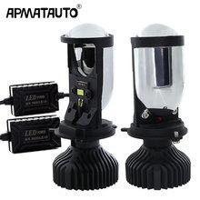2pcs 70W/Pair 5500K H4 LED hi-lo mini projector lens headlight 12V 24V Automobles Bulbs Conversion Kit no astigmatic