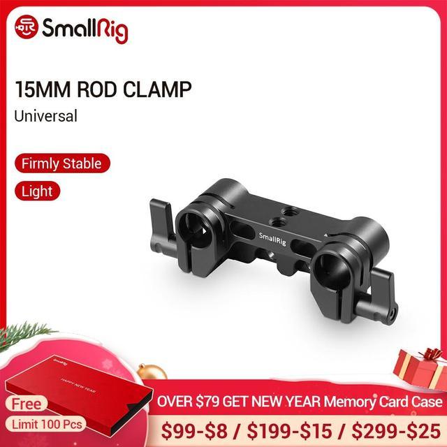SmallRig クイックリリースのデュアル 15 ミリメートルロッド一眼レフカメラケージ 15 ミリメートル LWS ロッドクランプシステム 1943