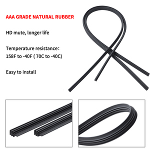 Image 3 - 2Pairs Universal Car Wiper Blade Refill Natural Silicone Rubber Windscreen Windshield High Quality Car Accessories