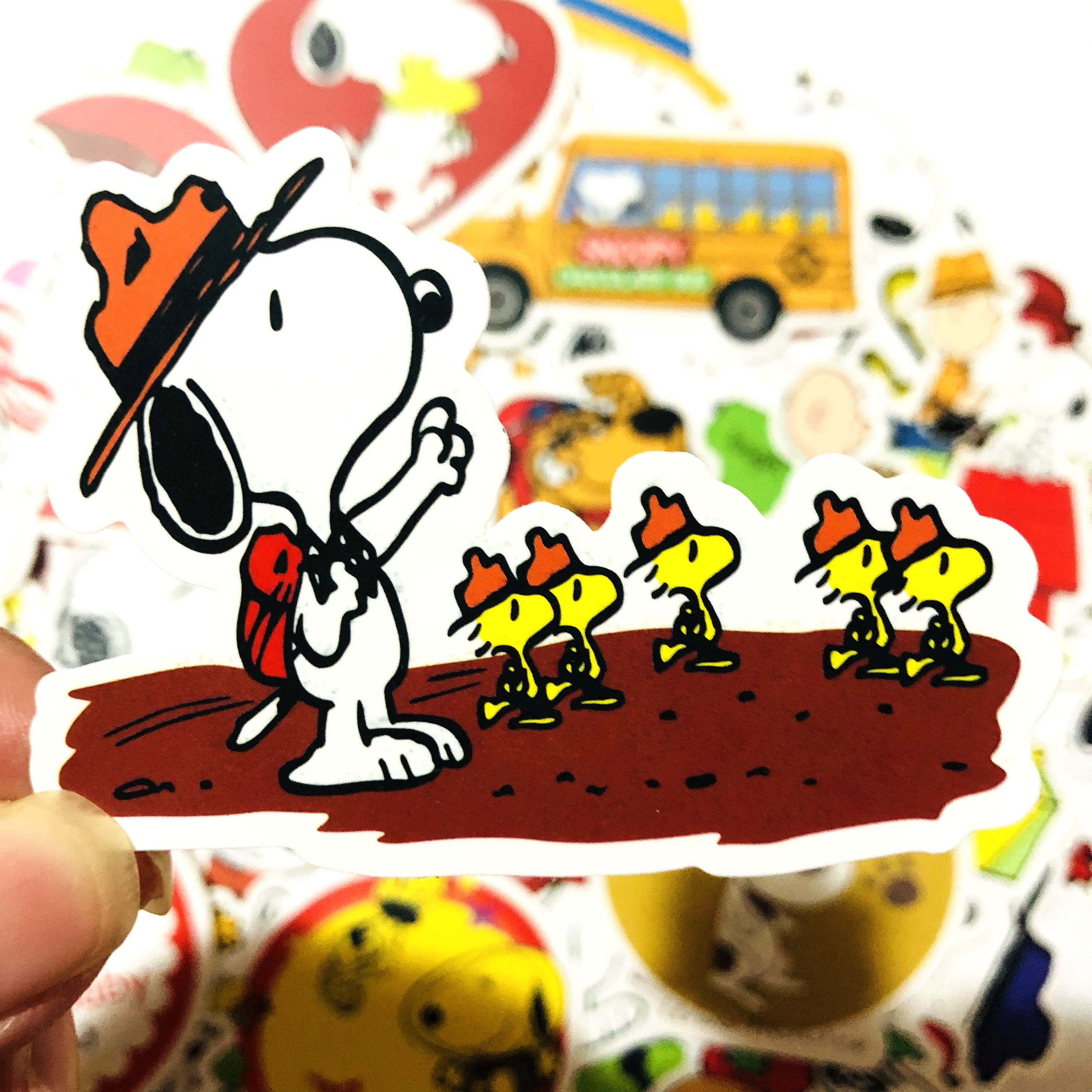 Image 4 - 50/100pcs cartoon Snoopy stickers For Laptop Skateboard Luggage Decal Office Toy Appliances netbook waterproof stickers-in Stickers from Toys & Hobbies