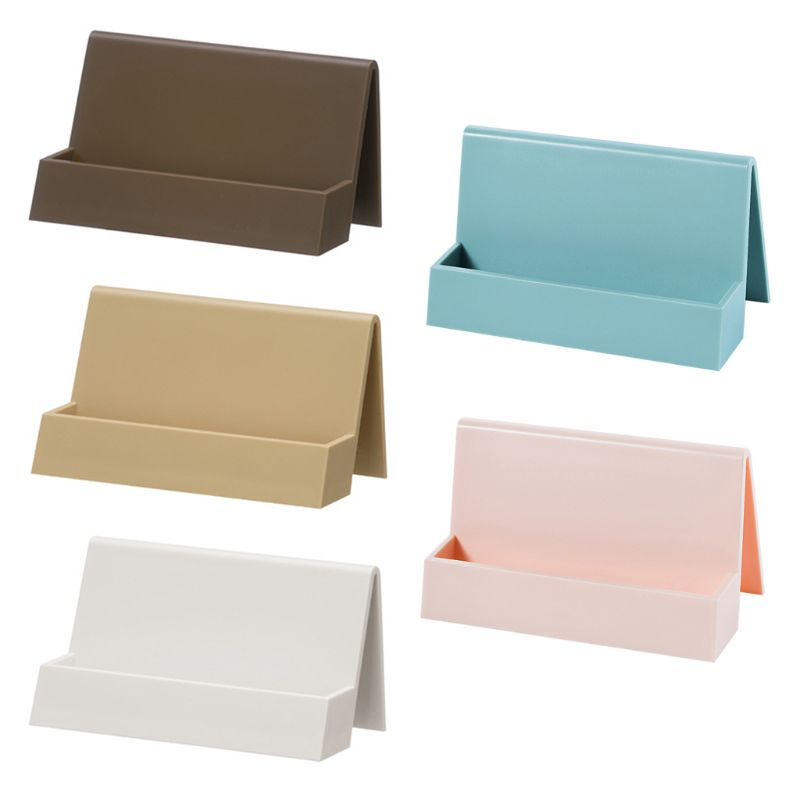 Plastic Office Business Name Card Holder Storage Display Stand Rack Desktop Table Organizer 5 Colors