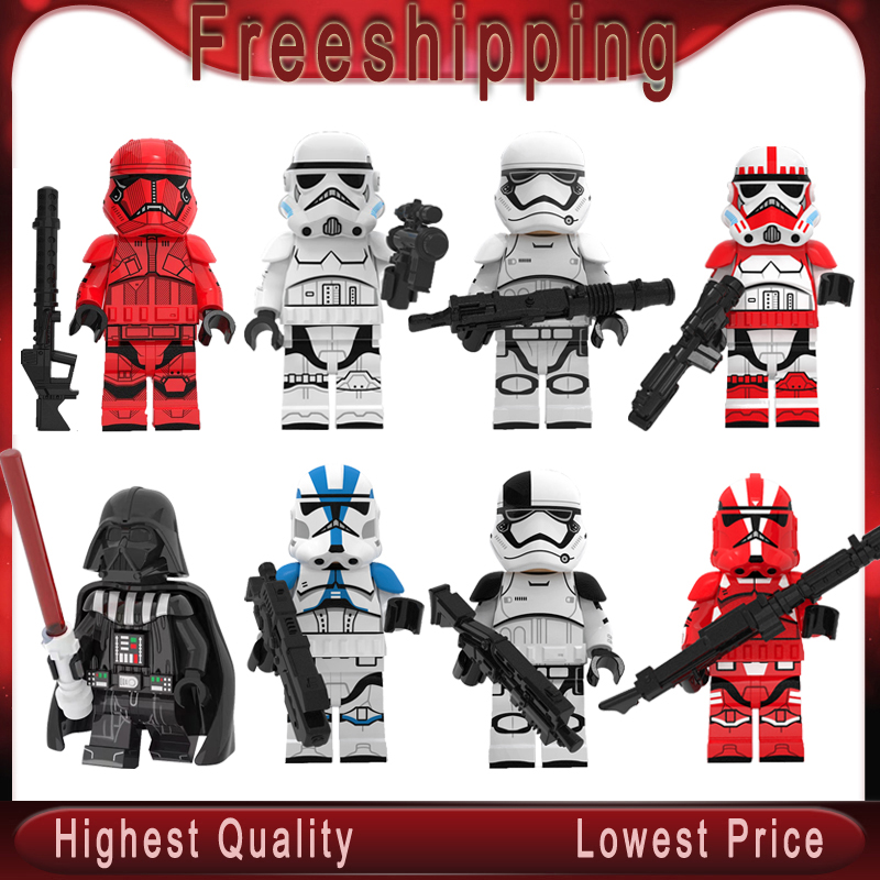 New Stars Wars Imperial Shock Cloned Storms Troopers Legoingly MiniFIGurined Blocks Bricks Model Kits Toys For Children Gift