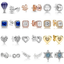 Women Ear Studs Four-leaf Clover Ladybird Knotted Heart Timeless Elegance Crystal Earring For Women Wedding Gift Fashion Jewelry