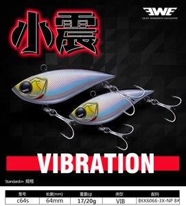2020 EWE New ABS Plastic VIB Blade Fishing Lures C64S Sinking Vibration Wobbler Baits Artificial Vib For Bass Pike Perch Fishing