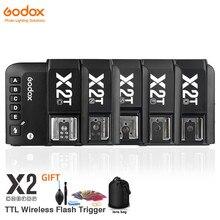 Беспроводной трансмиттер Godox, беспроводной триггер-передатчик для Canon, Nikon, Sony, Fuji, Olympus, с поддержкой TTL и HSS, с функцией тригггера, с поддержкой...