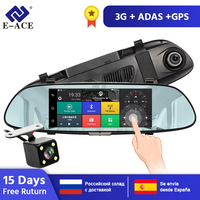 E ACE D01 Android GPS Navigation Car Dvr 3G Wifi Camera 7 Inch GPS Navigators 1080P Video Recorder Rearview Mirror