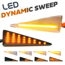 2Pcs דינמי אמבר LED צד מרקר הפעל אות אור עבור רנו Avantime Espace4 Megane2 Scenic2 Vel Satis רוח גרנד scenic2