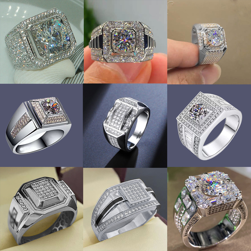 Milangirl  White Zircon Full Crystal Rings For Women Men Hip Hop Engagement Ring Jewelry Size 5 12