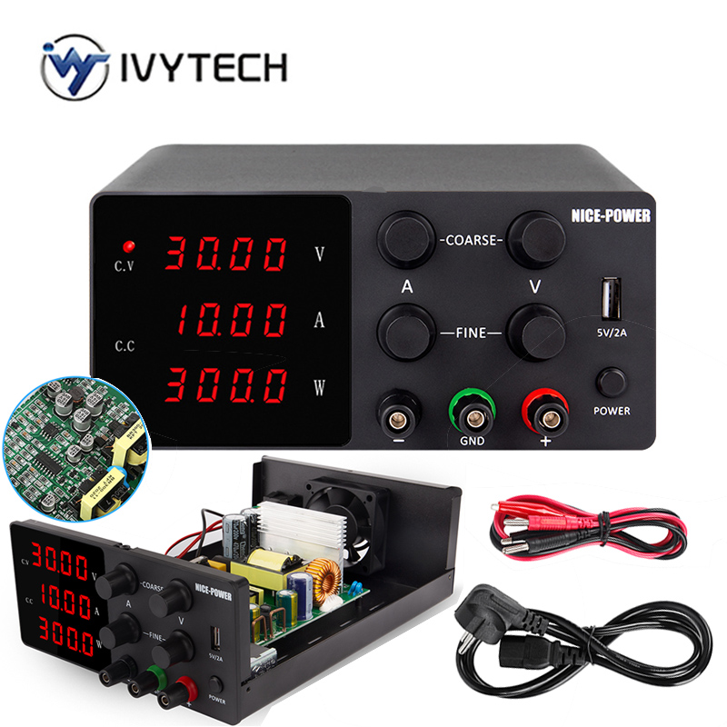 IVYTECH 120V 3A 60V 30V 10A 5A Adjustable Switching DC Lab Bench Power Supply LCD Screen Digital Regulated Modul Laboratory-0