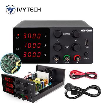 IVYTECH 120V 3A 60V 30V 10A 5A Adjustable Switching DC Lab Bench Power Supply LCD Screen Digital Regulated Modul Laboratory