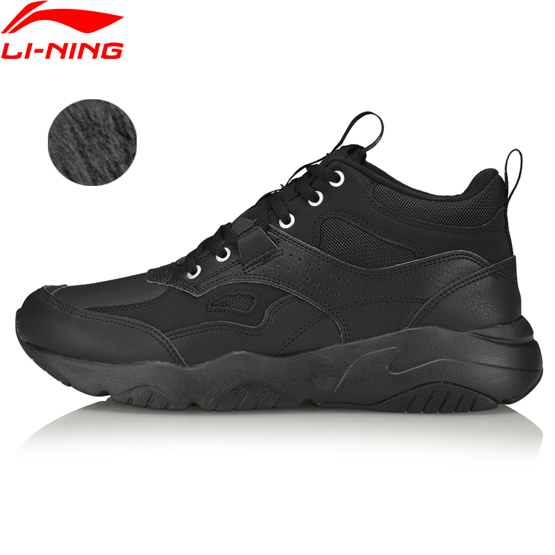 Li-Ning Men LN DEFENDER 2019 Lifestyle Classic Shoes Fleece Wearable LiNing Li Ning Sport Shoes Leisure Sneakers AGCP157 YXB341