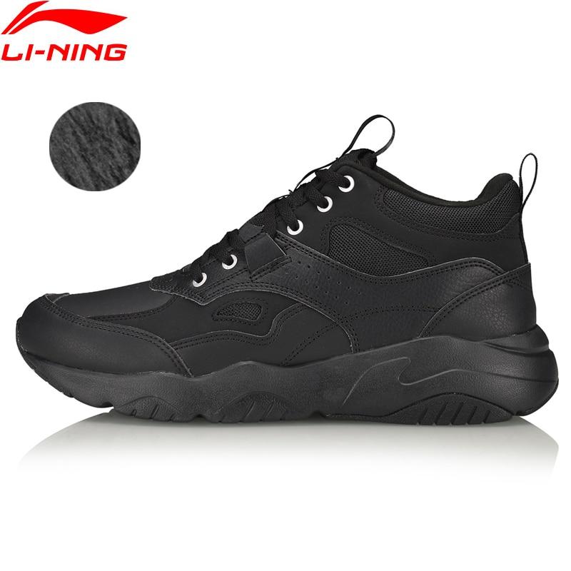 Li-Ning Men LN DEFENDER 2019 Lifestyle Classic Shoes Fleece Wearable LiNing Li Ning Sport Shoes Leisure Sneakers AGCP157 YXB341