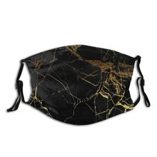 Marble Of Black And Gold Reusable Face Mask with Filter Dust
