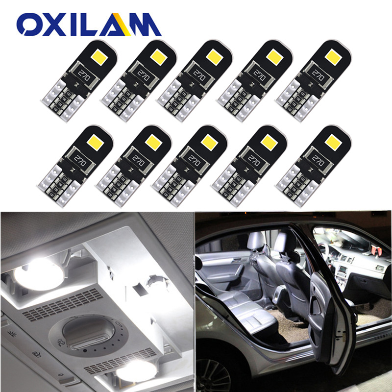 10pcs No Error T10 W5W Led Bulb Car Interior Light For SEAT Leon 1 2 3 MK3 FR Cordoba Ibiza Arosa Alhambra Altea Exeo Toledo