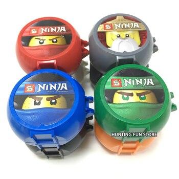 8 Minifigs in 1 Ninja Kendo Training Pod Mini Swordsman Figures Pack KAI JAY COLE ZANE Lloyd Master Wu Building Blocks Toys Kids