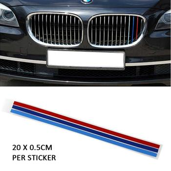 3PCs Car Sticker 200x5mm Sport Stripe 3 Colors Red Blue Deep Blue For BMW Series Auto Parts Reflective Decal Decoration Portable image