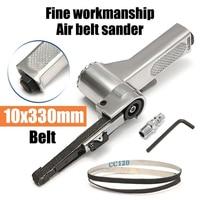 Meterk 3/8 Air Belt Sander Air Angle Grinding Machine Sanding Machine with Sanding Belts for Air Compressor Sanding polishing