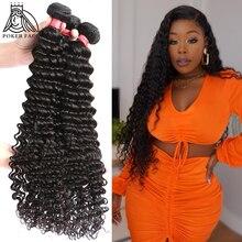 Tissage cheveux ondulés brésiliens 100% naturels, cheveux humains, Double tirage bouclés, Double tirage, 3 4 lots, 8 28 30 pouces