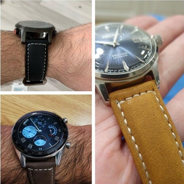 Vintage Matte Leather Watchband 4