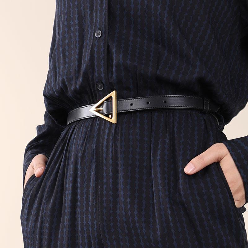 Luxury Quality Designer Belt Women Brand Trendy Designer Thin Belt Triangle Belts For Women Dress Party Waistband Female 1.8CM