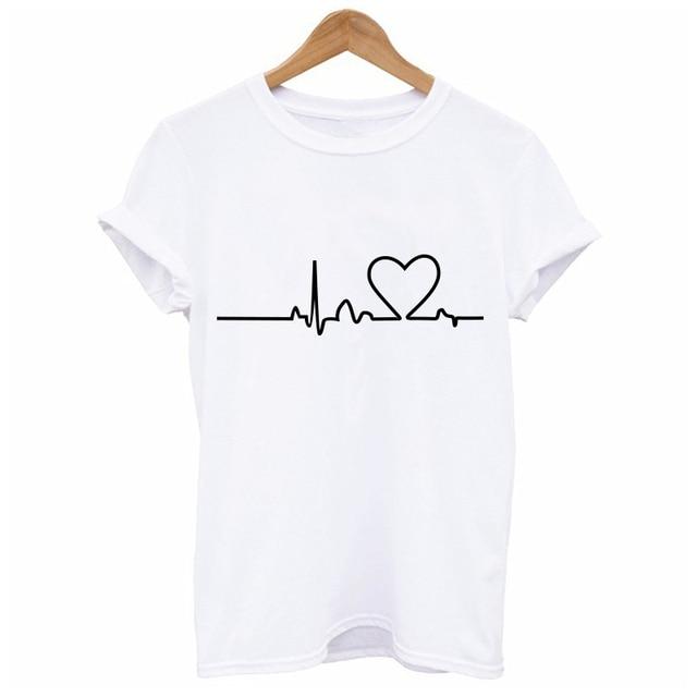 2020 New Harajuku Love Printed Women T-shirts Casual Tee Tops Summer Short Sleeve Female T shirt for Women Clothing