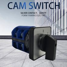 Rotary switch 63A 2 Phase 8 screw terminal 3 position Universal changeover cam switch silver contact