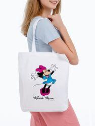Canvas bag Minnie Mouse. So happy! , White unisex, Disney
