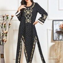 Dress Abaya for Women Robe Djellaba Femme Longue Musulman Vestidos Oman Clothing Hijab