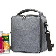 Фитнес полиэфирная алюминиевая сумка-холодильник на молнии, модный красивый дизайн, сумка через плечо, Термосумка для обеда
