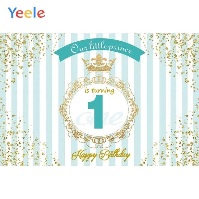 Yeele سعيد 1st عيد ميلاد لدينا الأميرة الصغيرة الذهبي الحدود المشهد التصوير خلفيات التصوير الخلفيات لاستوديو الصور