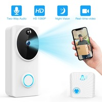 SUNTEX Smart 1080P Wireless Tuya Wifi Video Doorbell Phone Call Door Bell Camera Record Security Monitoring Amazon Alexa