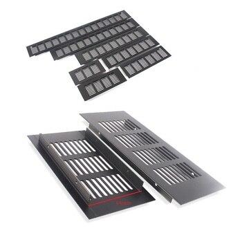 4Pcs/Lot Premintehdw 80MM Width Rectangle Black Aluminum Air Vent Ventilator Grille Cover Closet Shoe Cabinet Air Conditioner