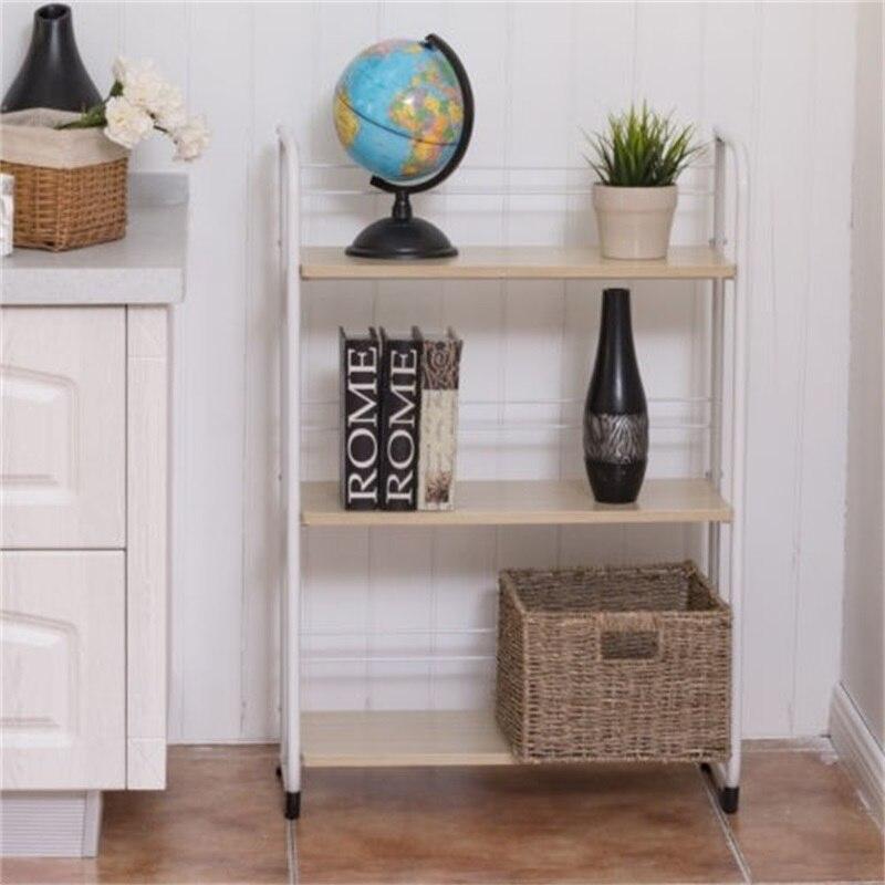 Support debout utilitaire de stockage d'étagères pliantes à 3 niveaux pour la pièce de bureau de Garage de cuisine utilisant le Type de plancher supports étagères à la maison HW56265