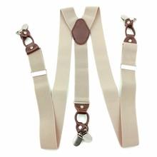Portable Vintage accesorios comerciales Casual Clip en aleación y cuero elástico a través de tirantes