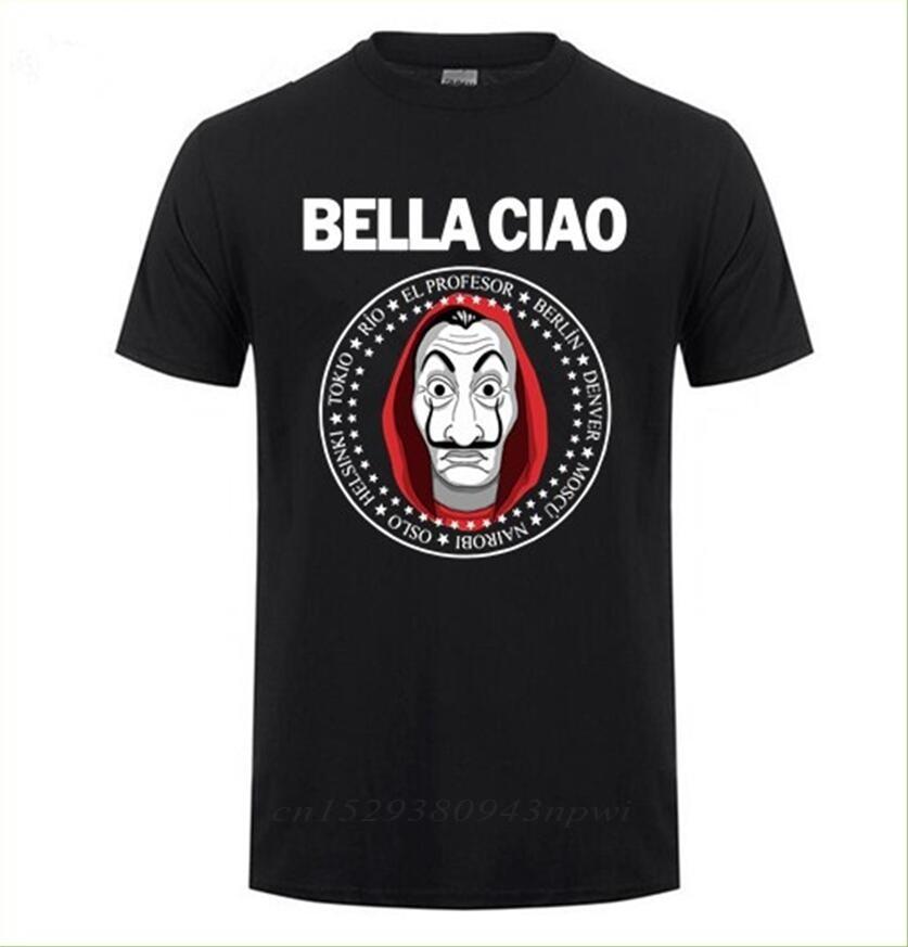 T-shirt manches courtes homme, vêtement De marque, maison du papier Money Heist La Casa De Papel, Tee-Shirt d'équipe en coton