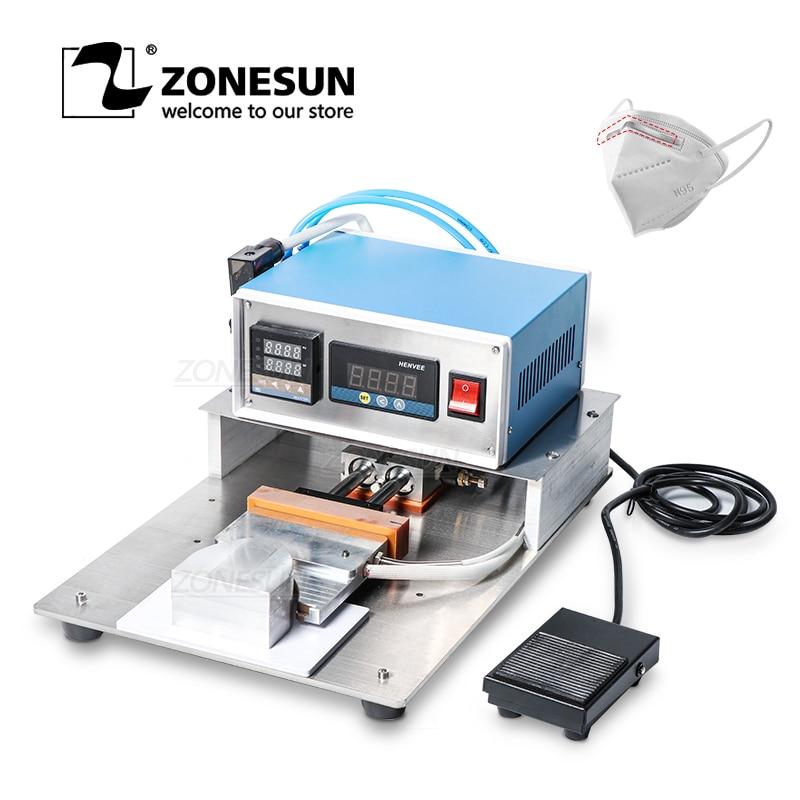 ZonesunMask Making Machine Nose Bridge Line Bonding Machine Hot Melt Aluminum Strip Semi-automatic Welding Machine To Make Masks