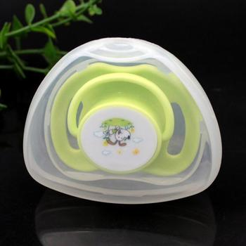 Cute Portable Pacifier Holder Nipple Case Soother Container Holder Box Travel Storage Case Cute Shark-Shaped Pacifier image