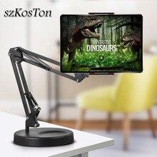 Faltbare Lange Arm Tablet Ständer Halter Desktop Handy Unterstützung Halterung 360 Grad Faule Halterung Für Aufnahme Video Make Up Live