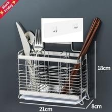 Fork Shelf-Stand Cutlery-Cutter Spoon Wall-Mount-Holder Drying-Rack Chopsticks Draining