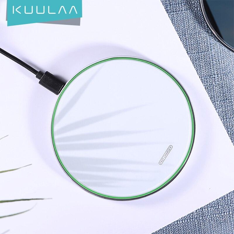 KUULAA 10 Вт Qi Беспроводное зарядное устройство для iPhone 11 Pro XS Max X Xr 8 Индукционная быстрая Беспроводная зарядная панель для Samsung S20 Xiaomi Mi 9
