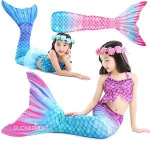 Children's Mermaid Tail For Swimming Girls Swimsuit The Little Mermaid Bikini Bathing Suit Party Kids monofin Cosplay Costumes