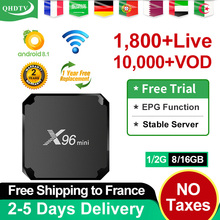 X96 mini IPTV France Arabic box Android IPTV QHDTV Subscription 1 Year Spain IPTV Belgium Dutch Algeria Arabic French IP TV X96 ip tv box arabic france iptv subscription x96 max android 8 1 iptv box support bt dual band wifi iptv french 1 year full hd live