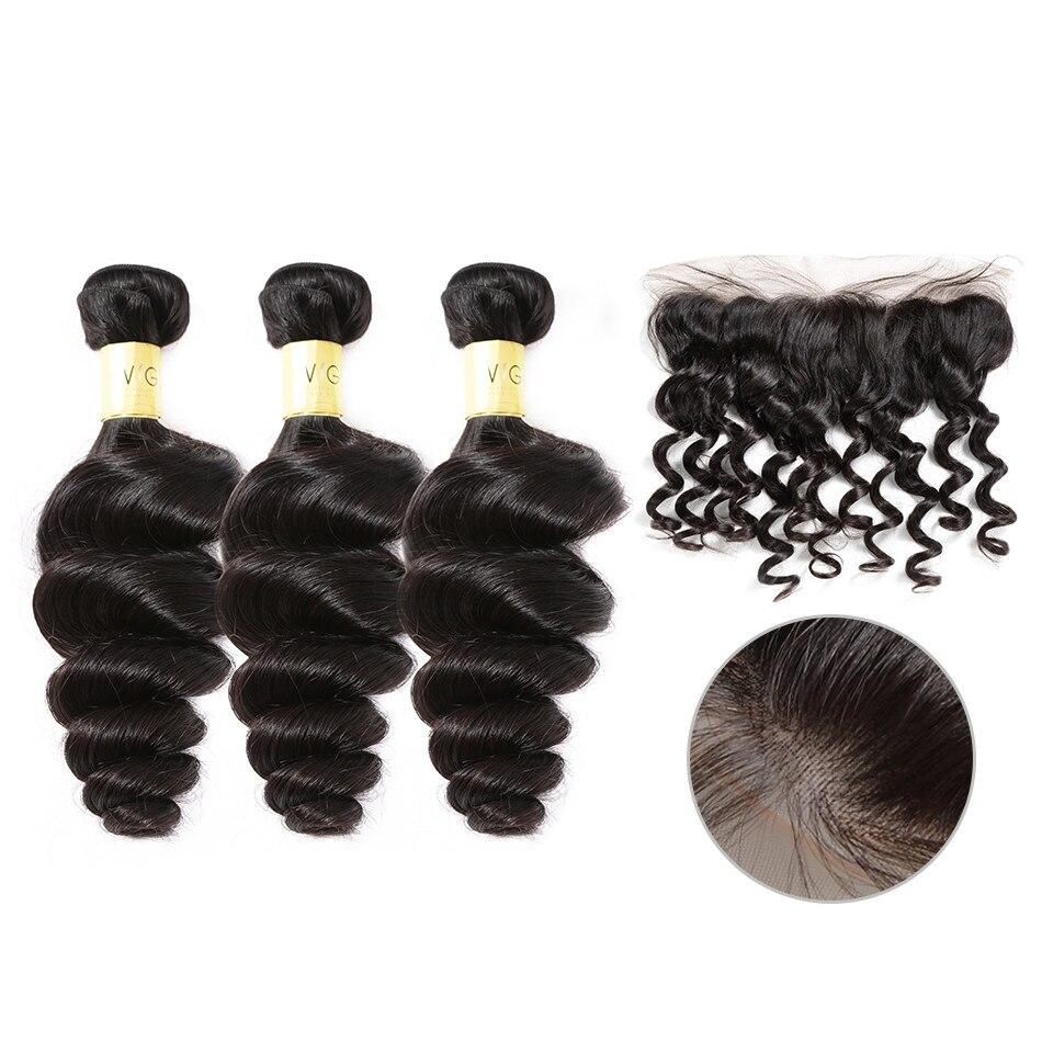 ポーカーフェイス 8-30 インチブラジル髪織りゆるいディープウェーブ人毛 3 4 バンドルレースフロントルースカーリー格安の Remy 毛