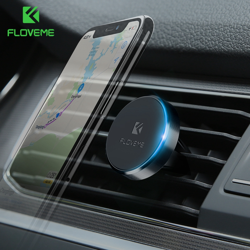 FLOVEME Magnetic Car Phone Holder Universal Magnet Sticker Stand Mount Car Holder For IPhone X Samsung Cell Mobile Phone Holders