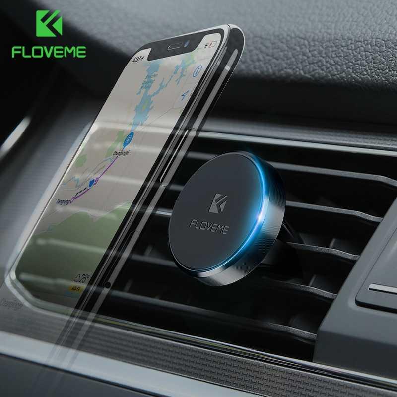 FLOVEME מגנטי רכב מחזיק טלפון אוניברסלי מגנט מדבקת מעמד הר רכב מחזיק עבור iPhone X סמסונג מחזיקי טלפון סלולרי נייד