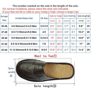 Image 5 - אמיתי פרה עור נעלי בית מקורה זוג החלקה גברים נשים בית אופנה מזדמן אחת נעלי PVC רך סוליות אביב קיץ 507