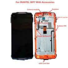 מקורי 6.53 אינץ LCD תצוגה עם מסגרת + מסך מגע Digitizer עצרת זכוכית עבור OUKITEL WP7 Smartphone