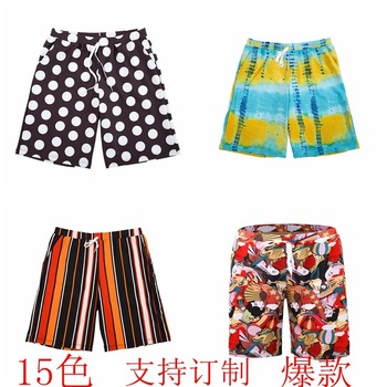 New Style MEN'S Beach Pants Europe and America Large Size Sports Casual Swimming Trunks Quick-Dry Breathable Men's Short Swimmin