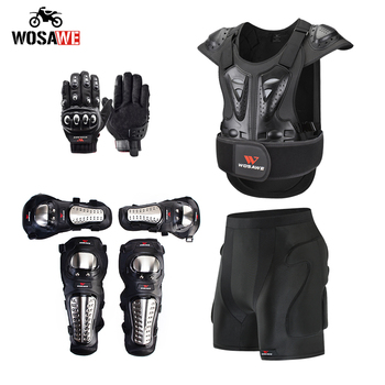 wosawe motorcross back protector skating snow body armour motorcycle spine guard moto jacket kneepads elbow guard moto armor WOSAWE Adult Full Body Protector Armor Motorcycle Armor Jacket Chest Spine Protection Gear Vest Elbow shoulder Knee guard Gloves