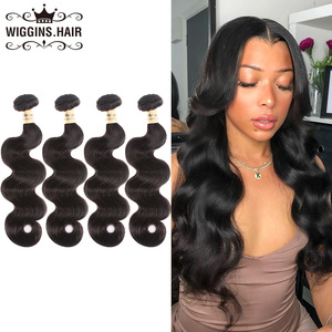 Wiggins Peruvian Body Wave 4 bundles Human Hair 100g Remy Hair Bundles Natural Color 10 12 14 16 18 20 22 24 26 28 inch Bundles